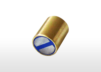 Magnetic lenses, cylindrical, made of brass, with the tolerance of h6